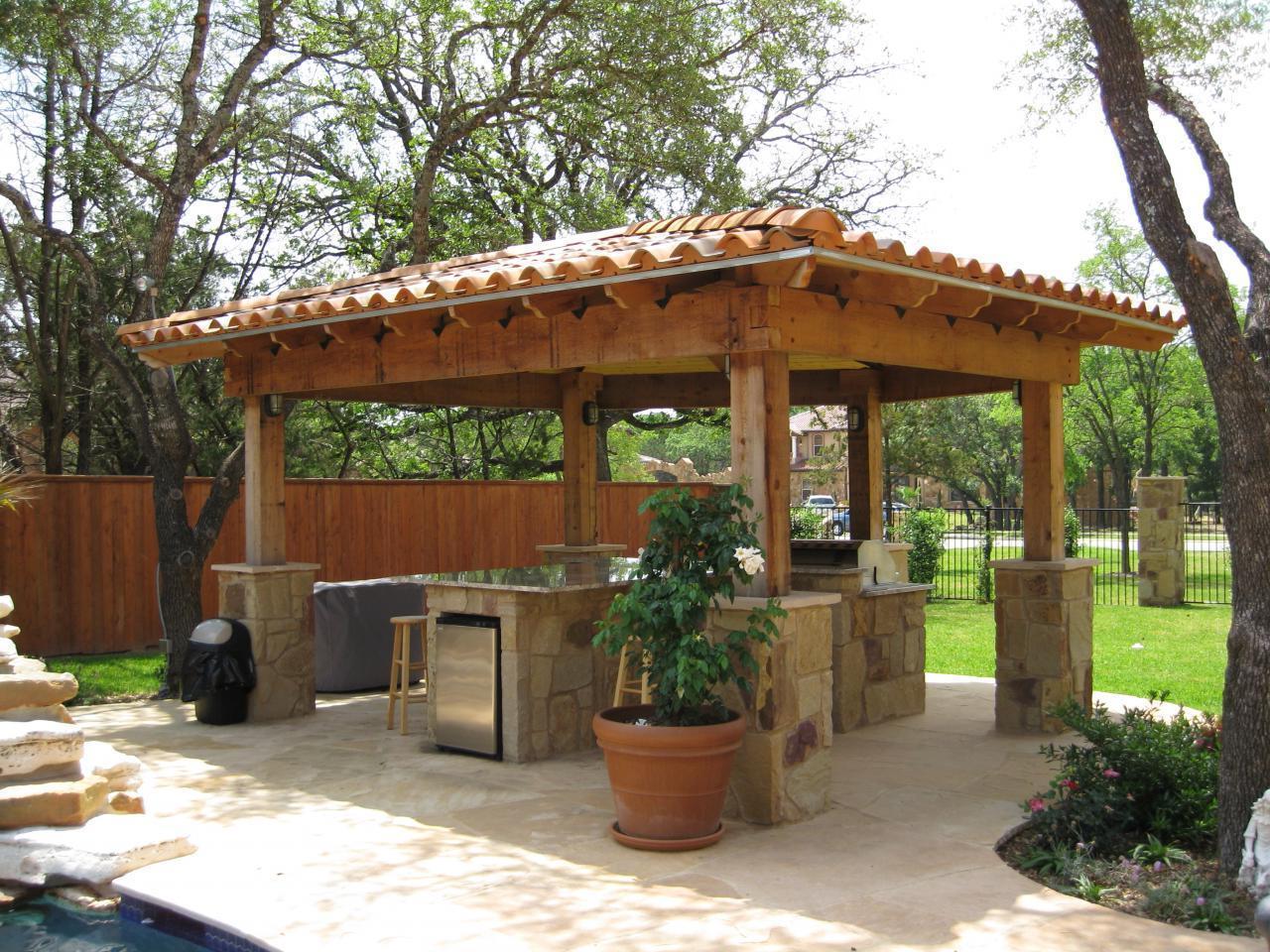 outdoor kitchen gazebo photo - 7