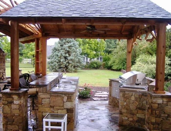 outdoor kitchen gazebo photo - 8