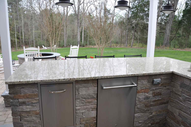 Outdoor Kitchen Granite Countertops Photo   6