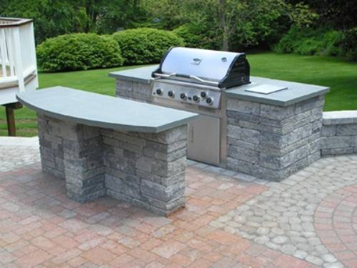 outdoor kitchen grill island photo - 10