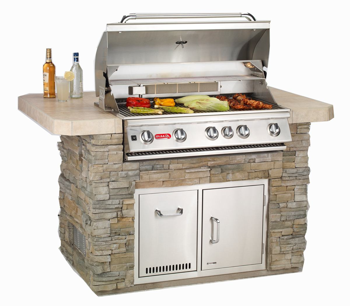 outdoor kitchen grill island photo - 2