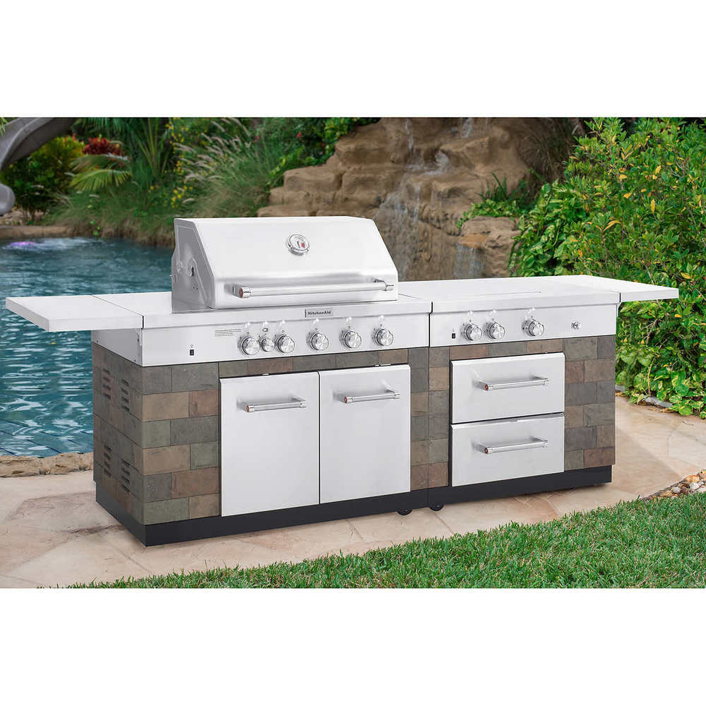 outdoor kitchen grill island photo - 4