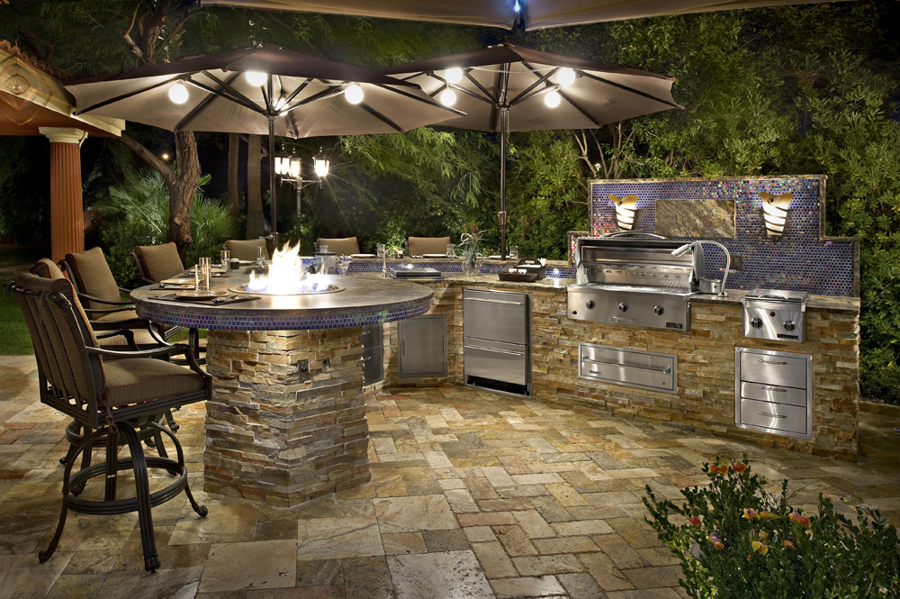 outdoor kitchen grill island photo - 5