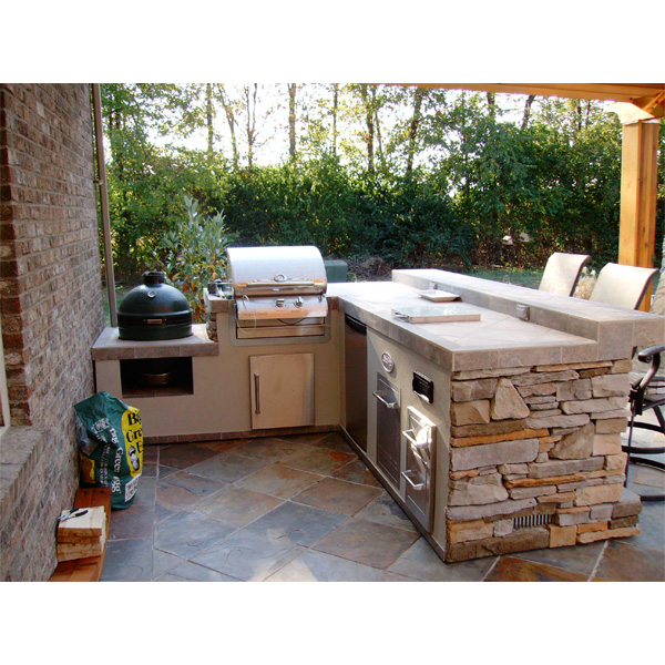 outdoor kitchen grill island photo - 8