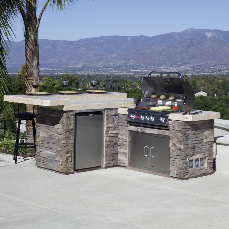 outdoor kitchen grill island photo - 9