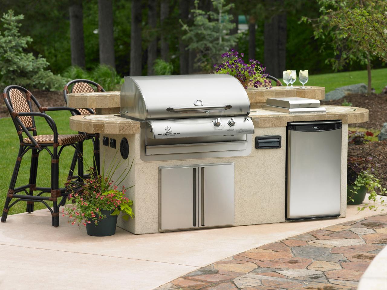 outdoor kitchen grills photo - 1