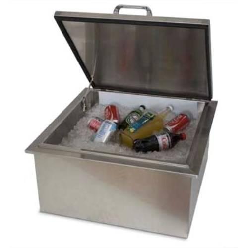 outdoor kitchen ice bin photo - 2