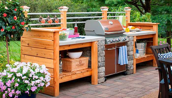 outdoor kitchen ideas diy photo - 2