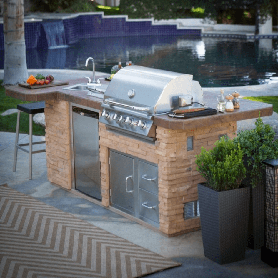 outdoor kitchen island with sink photo - 1