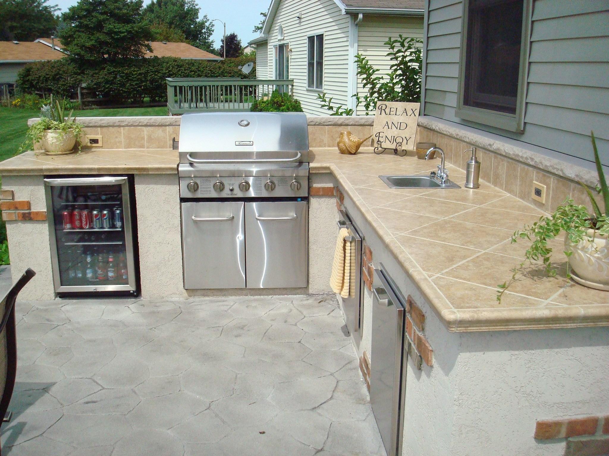 outdoor kitchen island with sink photo - 10