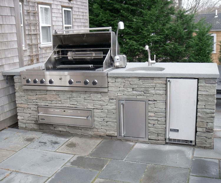 outdoor kitchen island with sink photo - 2