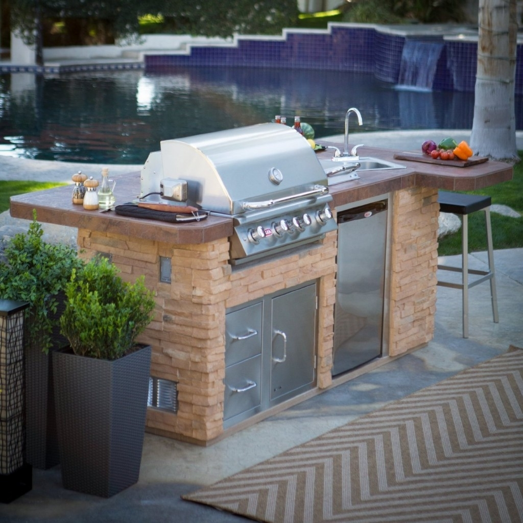 outdoor kitchen island with sink photo - 3