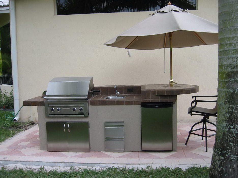 outdoor kitchen island with sink photo - 4