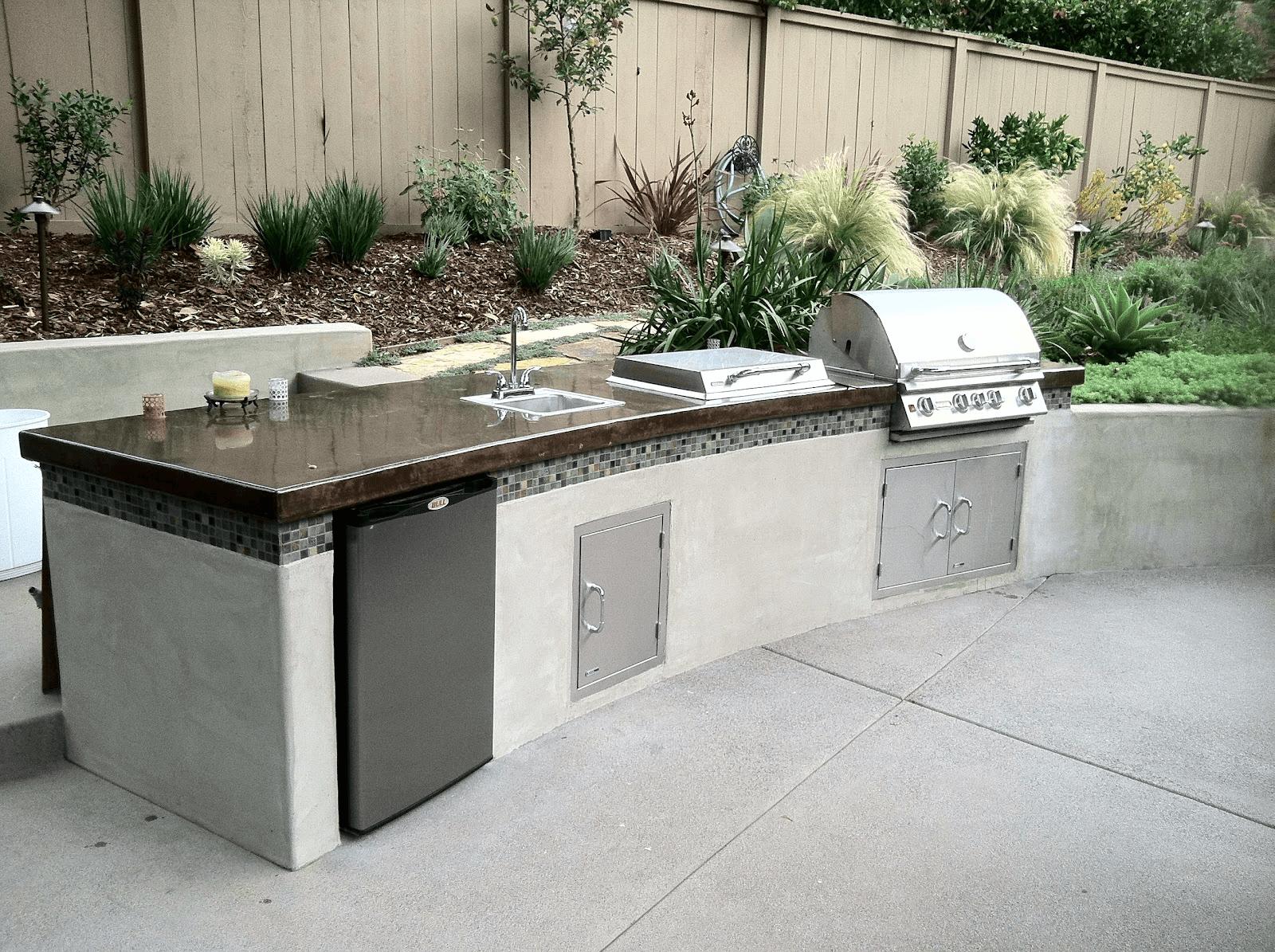 outdoor kitchen island with sink photo - 5