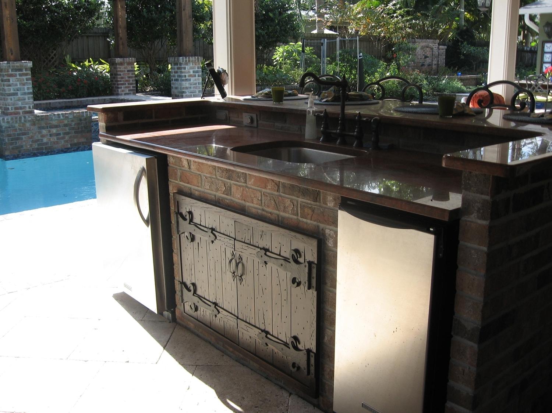 outdoor kitchen island with sink photo - 6