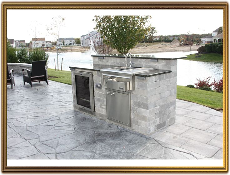 outdoor kitchen island with sink photo - 8