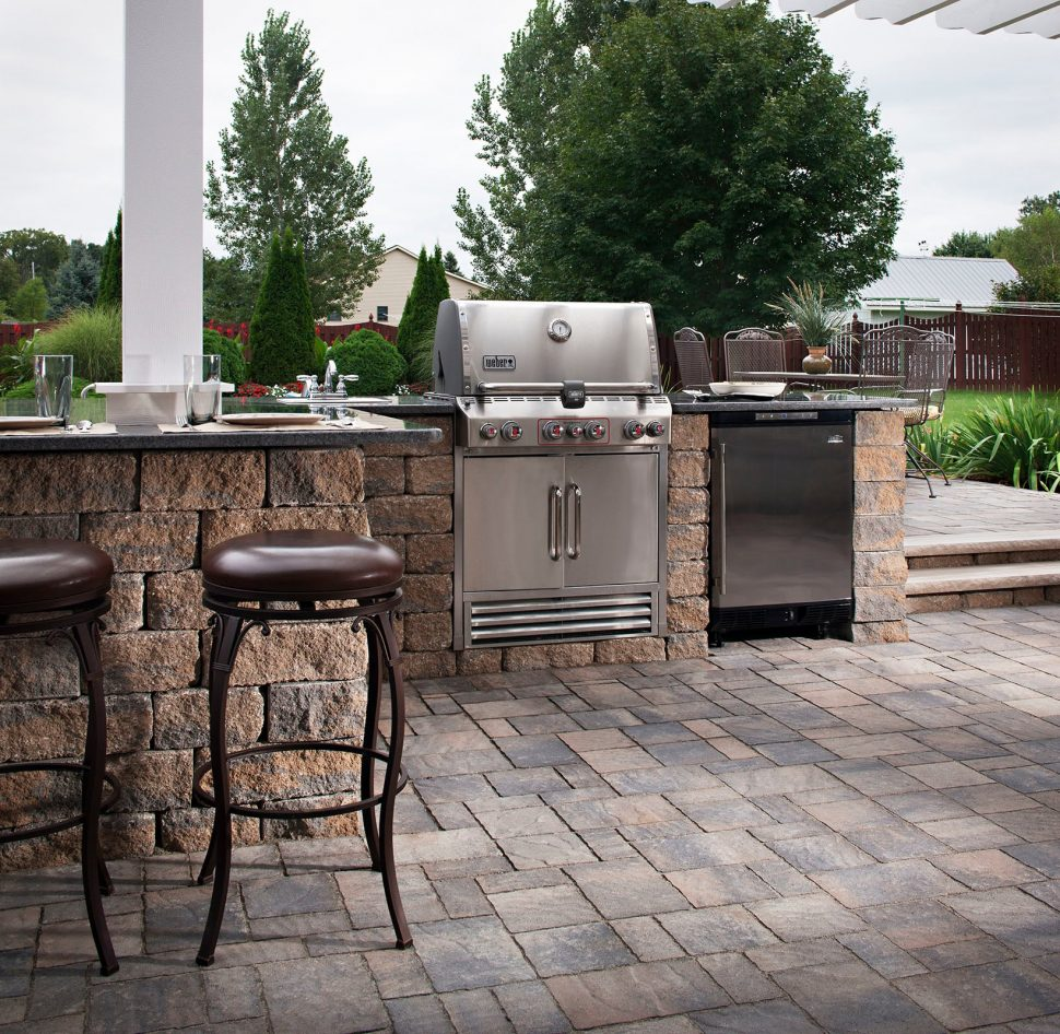 outdoor kitchen island with sink photo - 9