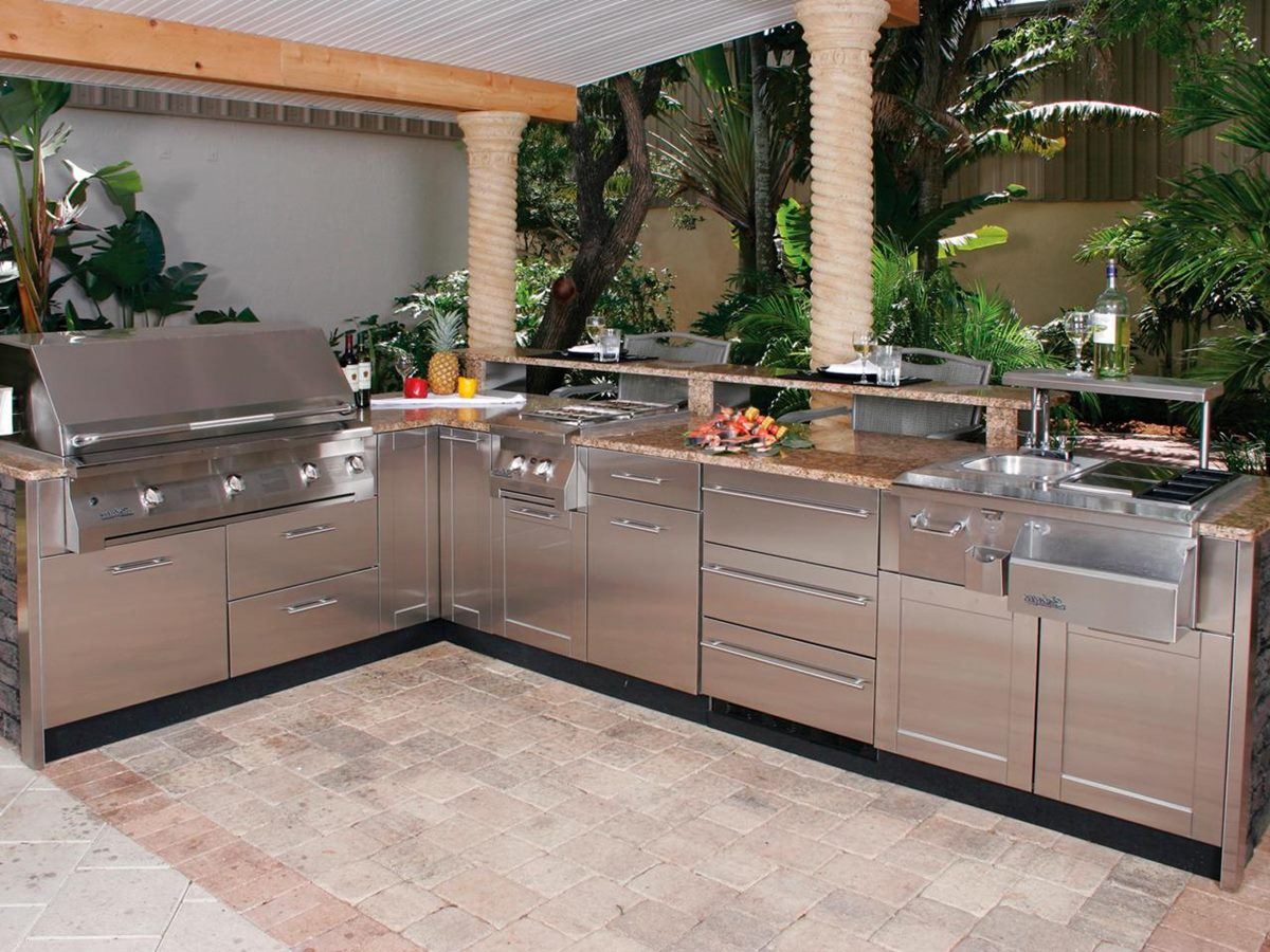 outdoor kitchen kits photo - 4