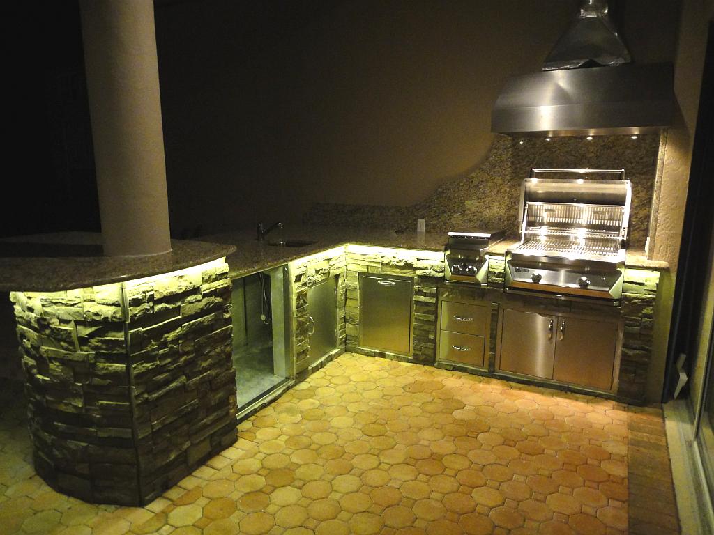 Outdoor Kitchen Lighting Photo   1