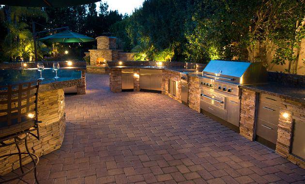 outdoor kitchen lighting photo - 10