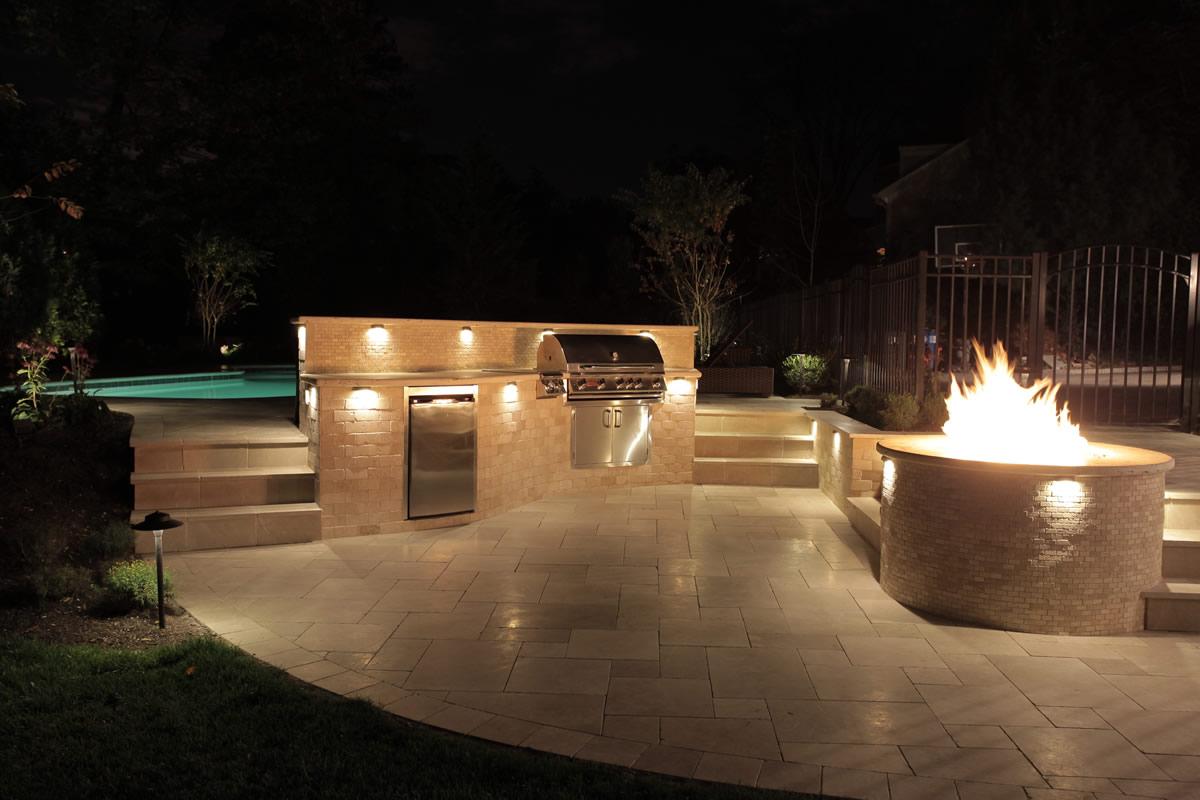 outdoor kitchen lighting photo - 2