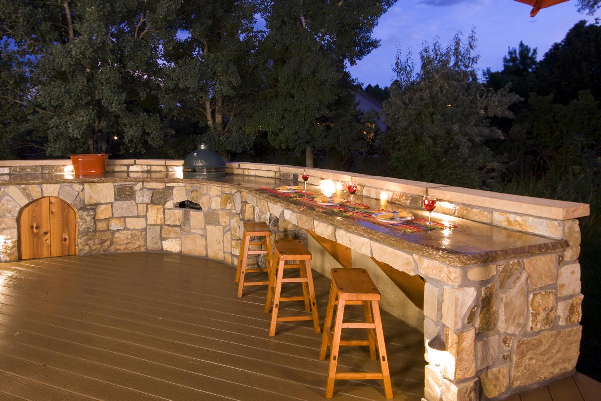 outdoor kitchen lighting photo - 4