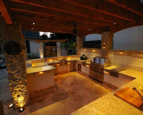 outdoor kitchen lighting photo - 6