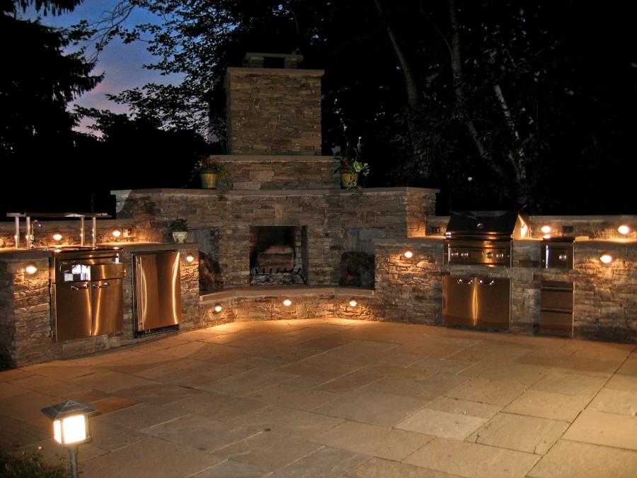 outdoor kitchen lighting photo - 7