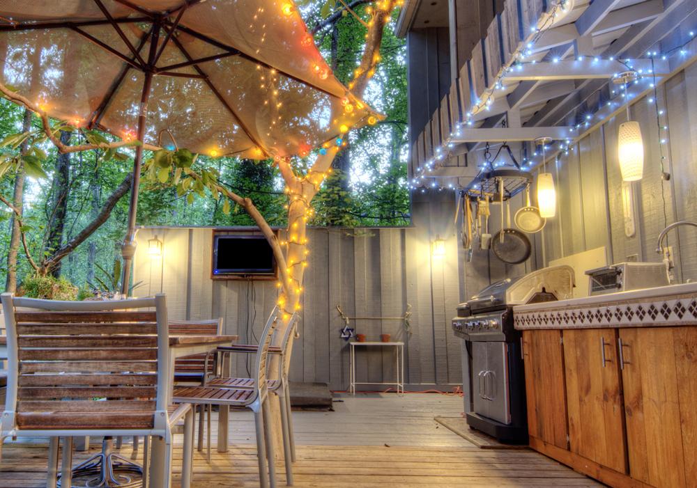 outdoor kitchen lighting photo - 8