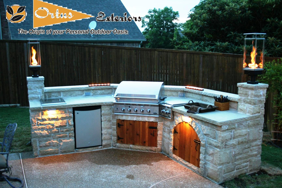 outdoor kitchen lighting design photo - 4