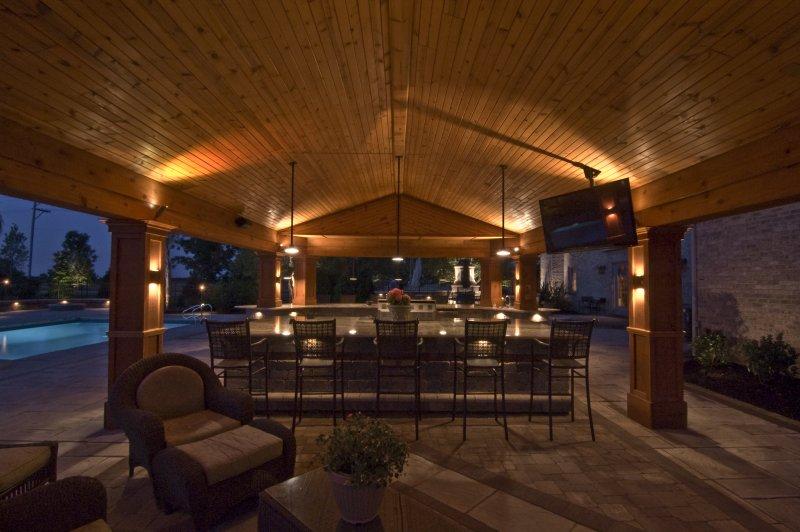 Outdoor Kitchen Lighting Ideas Photo   2