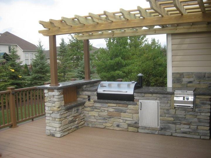outdoor kitchen on deck photo - 1