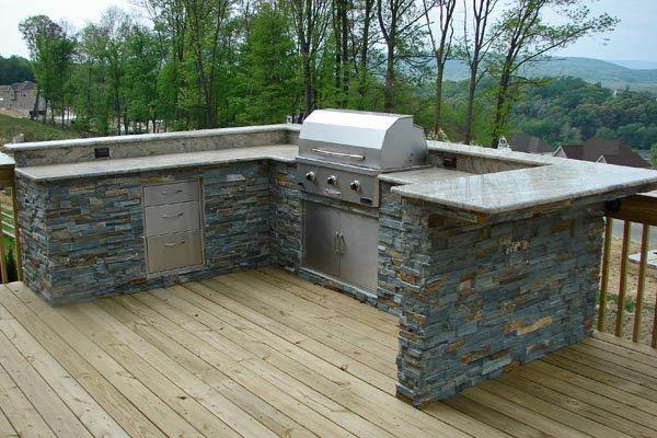 outdoor kitchen on deck photo - 4