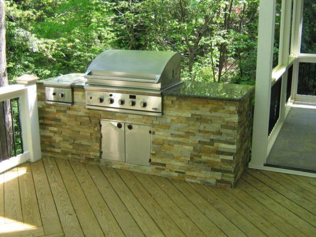 outdoor kitchen on deck photo - 7