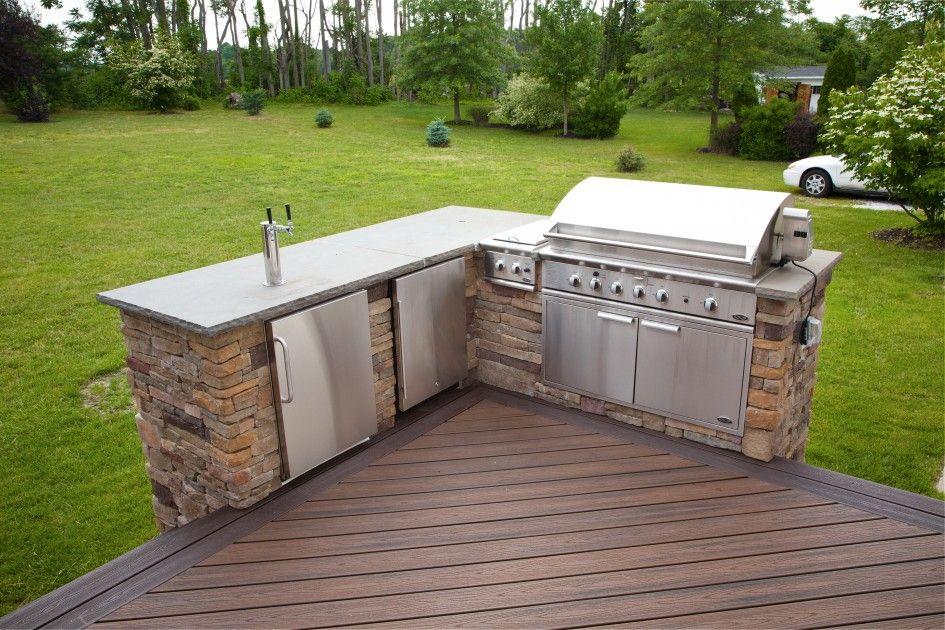 outdoor kitchen on deck photo - 8