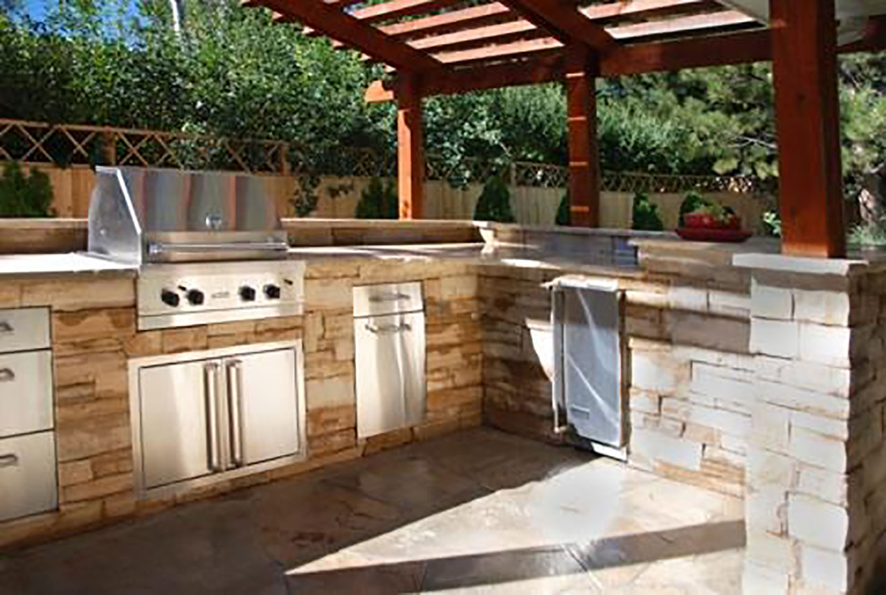outdoor kitchen plans photo - 1