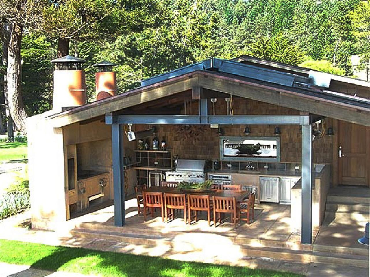 outdoor kitchen plans photo - 10