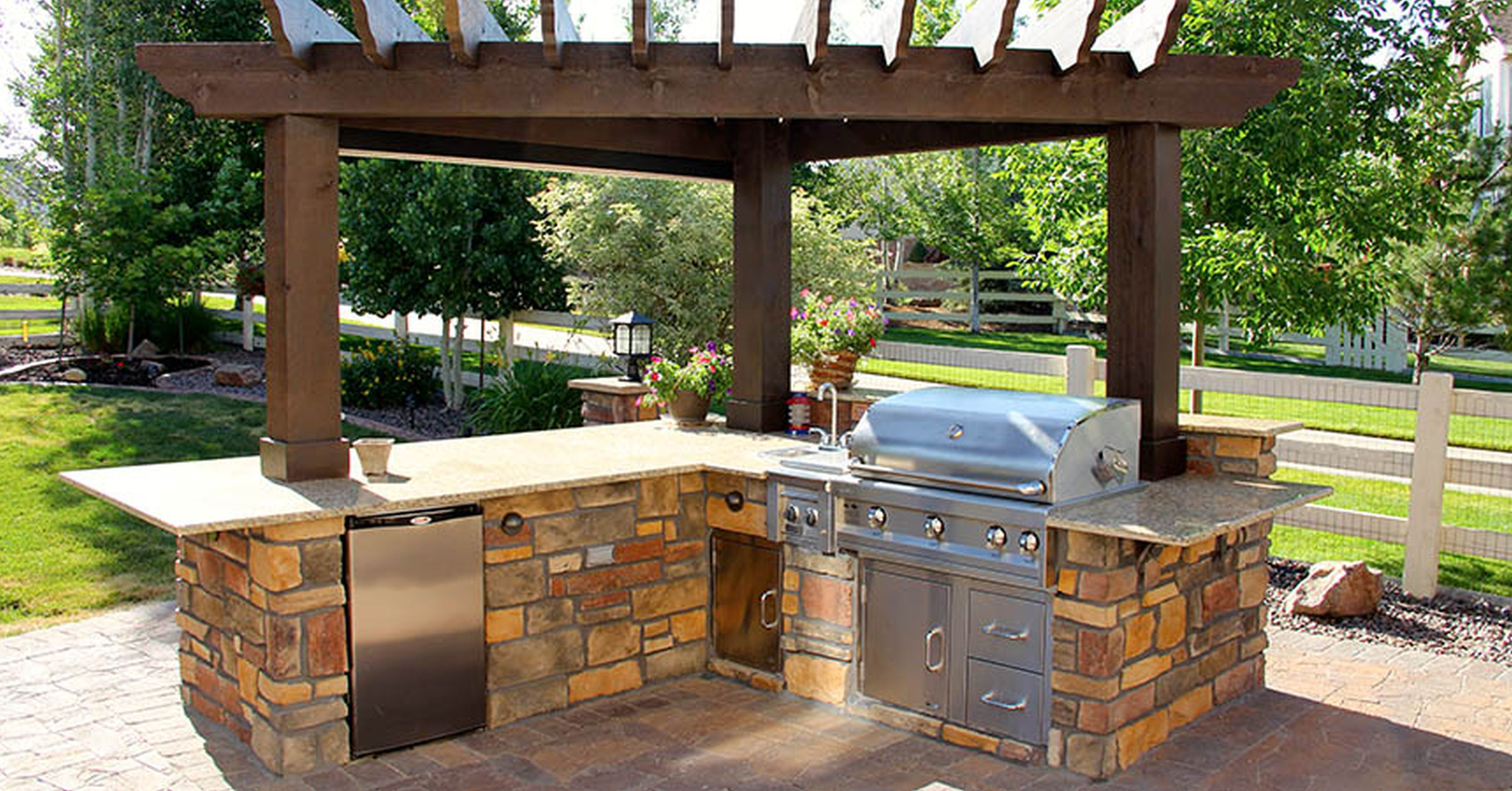 outdoor kitchen plans photo - 4