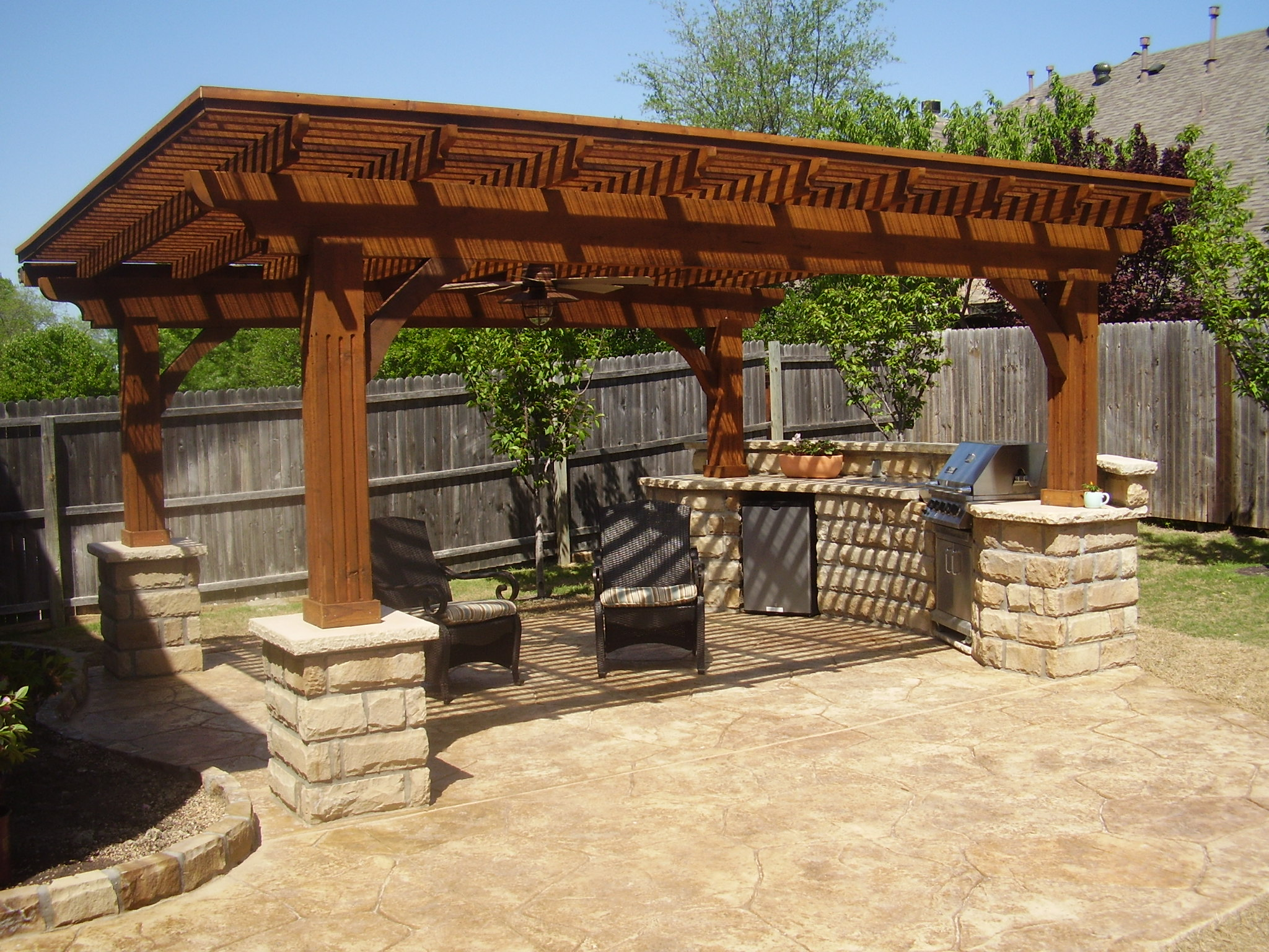 outdoor kitchen plans photo - 7