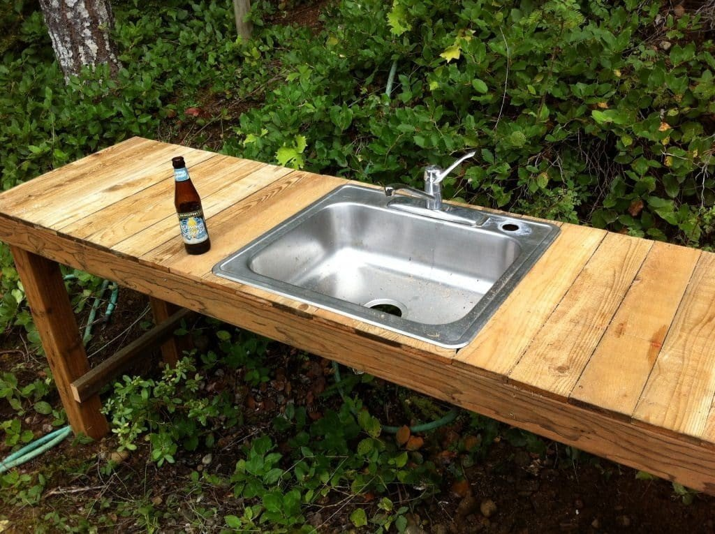 outdoor kitchen sink photo - 4