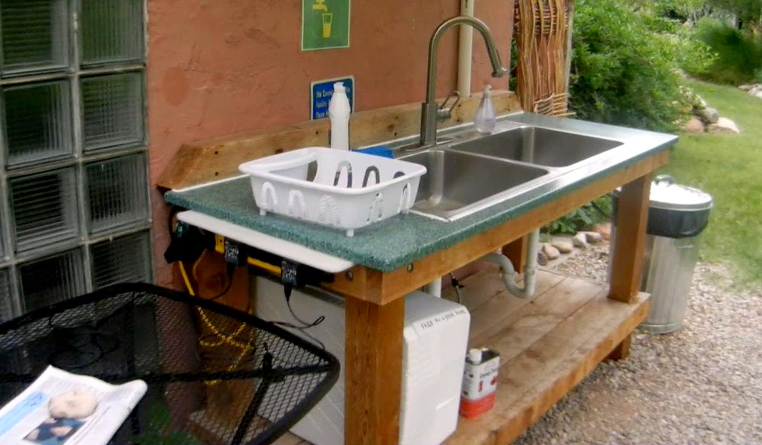 outdoor kitchen sink photo - 7