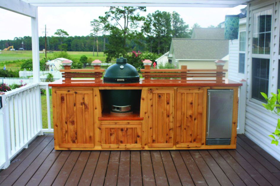 Outdoor Kitchen Wood Cabinets
