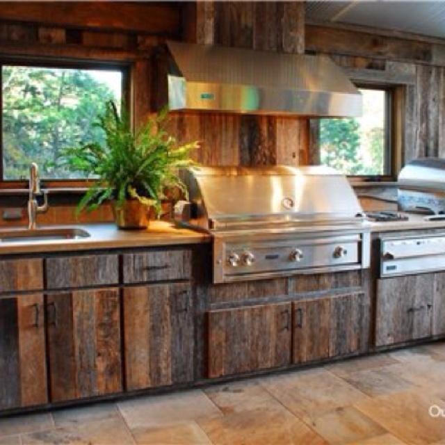 Outdoor Kitchen Wood Cabinets Hawk Haven