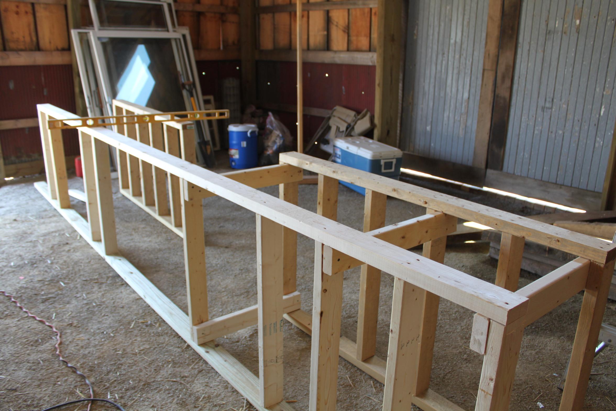 outdoor kitchen wood frame photo - 1
