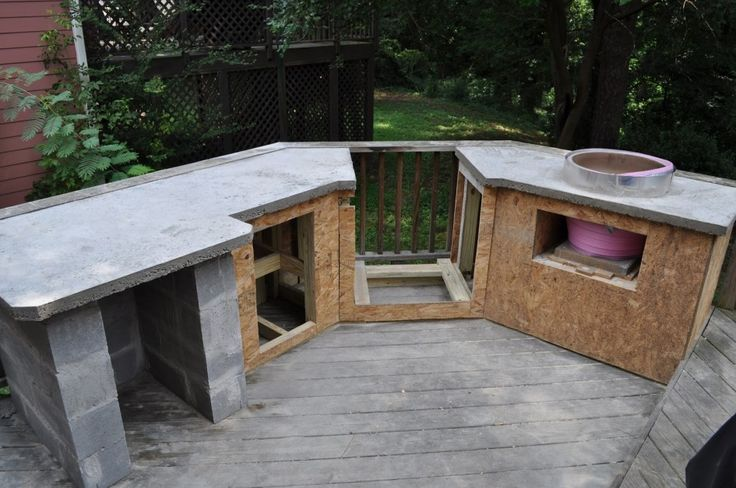 outdoor kitchen wood frame photo - 3