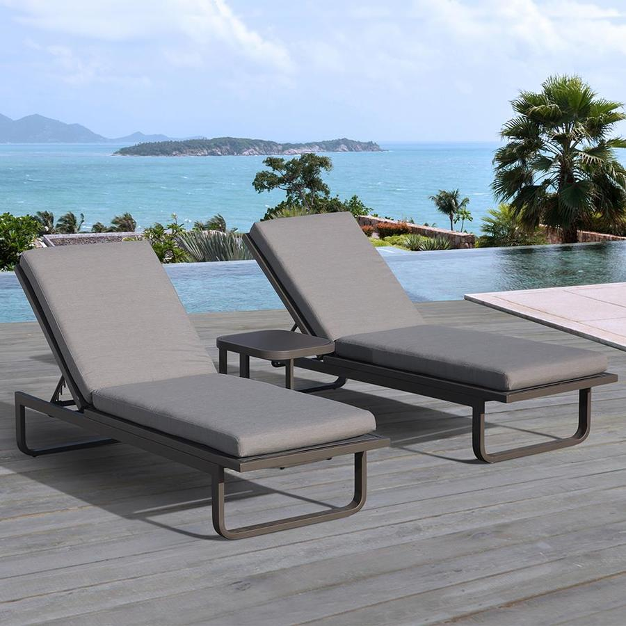 outdoor lounge chairs aluminum photo - 8