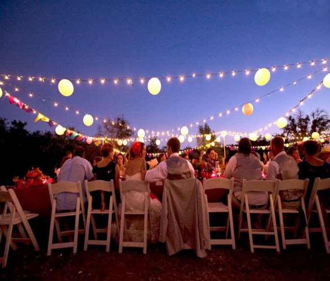 outdoor party lights photo - 1