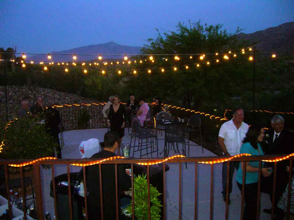 outdoor party lights photo - 4