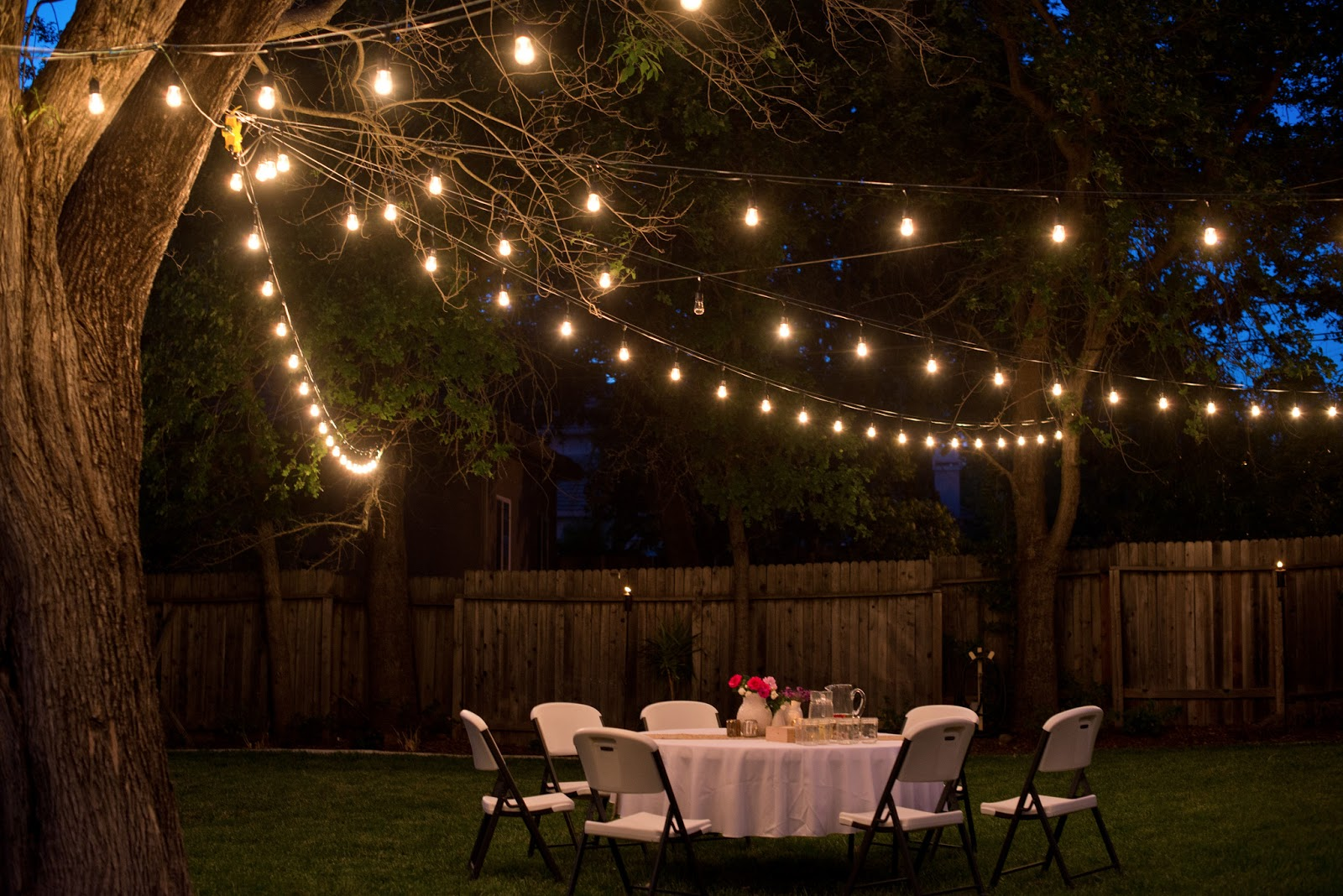 outdoor party lights photo - 5