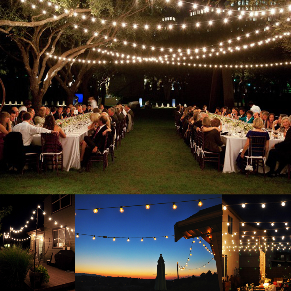outdoor party lights photo - 6